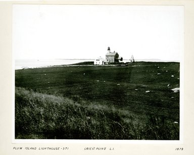 George Bradford Brainerd (American, 1845-1887). <em>Lighthouse, Plum Island, Long Island</em>, 1879. Collodion silver glass wet plate negative Brooklyn Museum, Brooklyn Museum/Brooklyn Public Library, Brooklyn Collection, 1996.164.2-371 (Photo: Brooklyn Museum, 1996.164.2-371.jpg)
