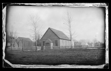 George Bradford Brainerd (American, 1845-1887). <em>First Baptist Church, Flatbush, Brooklyn</em>, ca. 1872-1887. Collodion silver glass wet plate negative Brooklyn Museum, Brooklyn Museum/Brooklyn Public Library, Brooklyn Collection, 1996.164.2-419 (Photo: Brooklyn Museum, 1996.164.2-419_glass_IMLS_SL2.jpg)