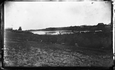George Bradford Brainerd (American, 1845-1887). <em>Pines Pond, Long Island</em>, ca. 1872-1887. Collodion silver glass wet plate negative Brooklyn Museum, Brooklyn Museum/Brooklyn Public Library, Brooklyn Collection, 1996.164.2-44 (Photo: Brooklyn Museum, 1996.164.2-44_glass_bw_SL4.jpg)