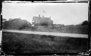 George Bradford Brainerd (American, 1845-1887). <em>House Southampton, Long Island</em>, ca. 1872-1887. Collodion silver glass wet plate negative