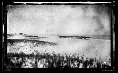 George Bradford Brainerd (American, 1845-1887). <em>Beach at Quogue, Long Island</em>, ca. 1872-1887. Collodion silver glass wet plate negative  Brooklyn Museum, Brooklyn Museum/Brooklyn Public Library, Brooklyn Collection, 1996.164.2-466A (Photo: Brooklyn Museum, 1996.164.2-466a_SL1.jpg)