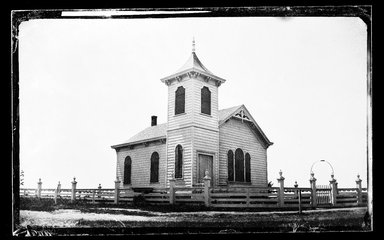 George Bradford Brainerd (American, 1845-1887). <em>Church, Quogue, Long Island</em>, ca. 1872-1887. Collodion silver glass wet plate negative