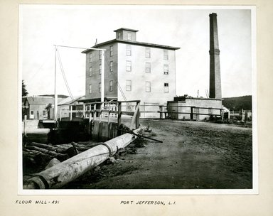 George Bradford Brainerd (American, 1845-1887). <em>Flour Mill, Port Jefferson, Long Island</em>, ca. 1872-1887. Collodion silver glass wet plate negative Brooklyn Museum, Brooklyn Museum/Brooklyn Public Library, Brooklyn Collection, 1996.164.2-491 (Photo: Brooklyn Museum, 1996.164.2-491.jpg)