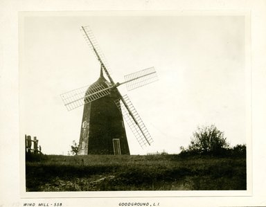 George Bradford Brainerd (American, 1845-1887). <em>Wind Mill, Goodground, Long Island</em>, ca. 1872-1887. Collodion silver glass wet plate negative Brooklyn Museum, Brooklyn Museum/Brooklyn Public Library, Brooklyn Collection, 1996.164.2-558 (Photo: Brooklyn Museum, 1996.164.2-558_print.jpg)