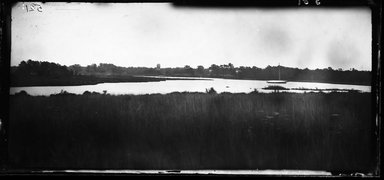George Bradford Brainerd (American, 1845-1887). <em>Connetquot River at Club House, Long Island</em>, ca. 1872-1887. Collodion silver glass wet plate negative Brooklyn Museum, Brooklyn Museum/Brooklyn Public Library, Brooklyn Collection, 1996.164.2-581 (Photo: Brooklyn Museum, 1996.164.2-581_glass_bw_SL4.jpg)