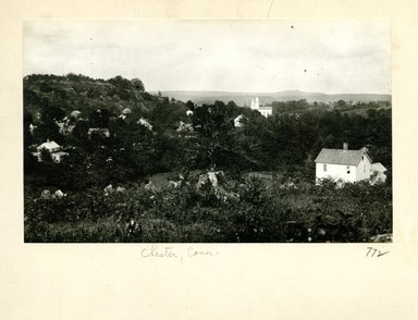 George Bradford Brainerd (American, 1845-1887). <em>From the west, Chester, Connecticut</em>, ca. 1872-1887. Collodion silver glass wet plate negative Brooklyn Museum, Brooklyn Museum/Brooklyn Public Library, Brooklyn Collection, 1996.164.2-772 (Photo: Brooklyn Museum, 1996.164.2-772_print.jpg)
