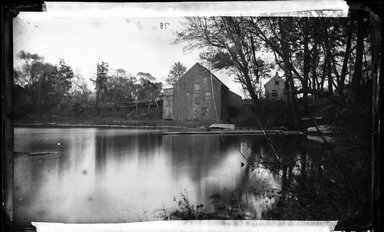 George Bradford Brainerd (American, 1845-1887). <em>The Mill, Stony Brook, Long Island</em>, ca. 1872-1887. Collodion silver glass wet plate negative Brooklyn Museum, Brooklyn Museum/Brooklyn Public Library, Brooklyn Collection, 1996.164.2-78 (Photo: Brooklyn Museum, 1996.164.2-78_glass_bw_SL4.jpg)
