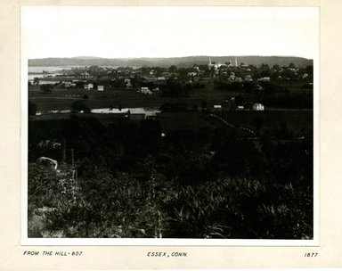 George Bradford Brainerd (American, 1845-1887). <em>View from Hill, Essex, Connecticut</em>, 1877. Collodion silver glass wet plate negative Brooklyn Museum, Brooklyn Museum/Brooklyn Public Library, Brooklyn Collection, 1996.164.2-807 (Photo: Brooklyn Museum, 1996.164.2-807_print.jpg)
