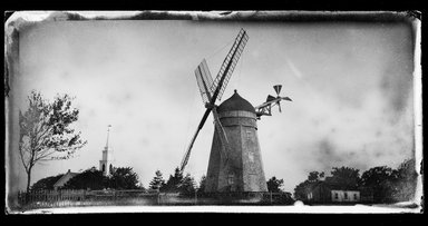 George Bradford Brainerd (American, 1845-1887). <em>Wind Mill, Bridgehampton, Long Island</em>, 1879. Collodion silver glass wet plate negative Brooklyn Museum, Brooklyn Museum/Brooklyn Public Library, Brooklyn Collection, 1996.164.2-820 (Photo: Brooklyn Museum, 1996.164.2-820_SL1.jpg)