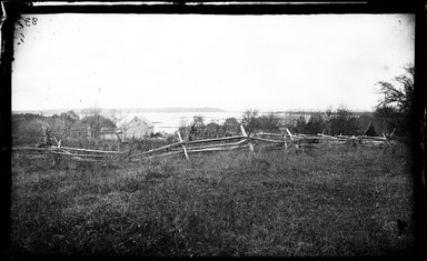 George Bradford Brainerd (American, 1845-1887). <em>Stony Brook Harbor, Stony Brook, Long Island</em>, ca. 1872-1887. Collodion silver glass wet plate negative Brooklyn Museum, Brooklyn Museum/Brooklyn Public Library, Brooklyn Collection, 1996.164.2-83 (Photo: Brooklyn Museum, 1996.164.2-83_glass_bw_SL4.jpg)