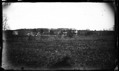 George Bradford Brainerd (American, 1845-1887). <em>St. Johnland and Distant Buildings, Long Island</em>, ca. 1872-1887. Collodion silver glass wet plate negative Brooklyn Museum, Brooklyn Museum/Brooklyn Public Library, Brooklyn Collection, 1996.164.2-88 (Photo: Brooklyn Museum, 1996.164.2-88_glass_bw_SL4.jpg)