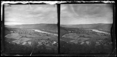 George Bradford Brainerd (American, 1845-1887). <em>Up Delaware from Penn Mountain</em>, July 4, 1876. Collodion silver glass wet plate negative Brooklyn Museum, Brooklyn Museum/Brooklyn Public Library, Brooklyn Collection, 1996.164.2-893 (Photo: Brooklyn Museum, 1996.164.2-893_glass_broken_bw_SL1.jpg)