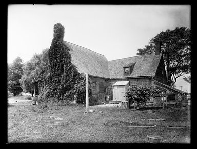 Dr. George S. Ogden (American, active 1900-1915). <em>Schenck House, Rear, Showing Later Additions</em>, August 2, 1914. Gelatin silver glass dry plate negative Brooklyn Museum, Brooklyn Museum/Brooklyn Public Library, Brooklyn Collection, 1996.164.6-58 (Photo: Brooklyn Museum, 1996.164.6-58_SL1.jpg)