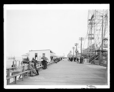 Irving Underhill (American, 1872-1960). <em>Bergen Beach, Brooklyn</em>, ca. 1896-1950. Gelatin silver glass dry plate negative Brooklyn Museum, Brooklyn Museum/Brooklyn Public Library, Brooklyn Collection, 1996.164.8-B7070. © artist or artist's estate (Photo: Brooklyn Museum, 1996.164.8-B7070_glass_IMLS_SL2.jpg)
