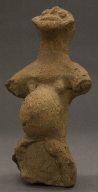 <em>Female Figure with Protruding Stomach</em>, ca. 1300. Terracotta, 8 5/8 x 4 1/4 x 4 in. (21.9 x 10.8 x 10.2 cm). Brooklyn Museum, Gift of Joseph and Margaret Knopfelmacher, 1996.170.27. Creative Commons-BY (Photo: Brooklyn Museum, 1996.170.27_PS10.jpg)