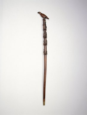 American. <em>Cane</em>, 1865-1900. Wood, metal, 35 x 4 1/2 x 1 1/2 in. (88.9 x 11.4 x 3.8cm). Brooklyn Museum, Marie Bernice Bitzer Fund and A. Augustus Healy Fund, 1996.179. Creative Commons-BY (Photo: Brooklyn Museum, 1996.179_SL1.jpg)