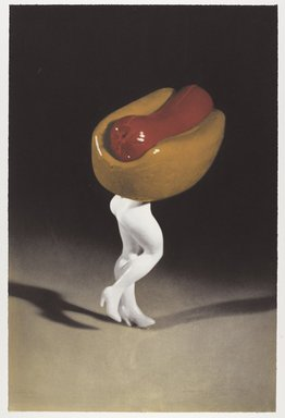 Laurie Simmons (American, born 1949). <em>Hot Dog</em>, 1996. Photogravure on paper, sheet: 28 1/2 x 18 7/8 in. (72.4 x 47.9 cm). Brooklyn Museum, Robert A. Levinson Fund, 1996.189.1. © artist or artist's estate (Photo: Brooklyn Museum, 1996.189.1_PS9.jpg)