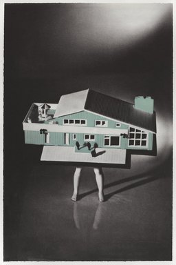 Laurie Simmons (American, born 1949). <em>Blue House (from Food Clothing Shelter portfolio)</em>, 1996. Photogravure on paper, sheet: 28 1/2 x 18 7/8 in. (72.4 x 47.9 cm). Brooklyn Museum, Robert A. Levinson Fund, 1996.189.2. © artist or artist's estate (Photo: Brooklyn Museum, 1996.189.2_PS9.jpg)