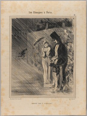 Honoré Daumier (French, 1808-1879). <em>Grandes Eaux à Versailles</em>, July 28, 1844. Lithograph on newsprint, Sheet: 13 3/8 x 10 1/8 in. (33.9 x 25.7 cm). Brooklyn Museum, Gift of Shelley and David Garfinkel, 1996.225.109 (Photo: Brooklyn Museum, 1996.225.109_PS1.jpg)