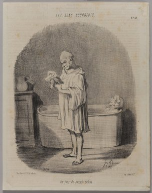 Honoré Daumier (French, 1808-1879). <em>Un Jour de Grande Toilette</em>, August 20, 1847. Lithograph, Other: 12 9/16 x 9 13/16 in. (31.9 x 25 cm). Brooklyn Museum, Gift of Shelley and David Garfinkel, 1996.225.112 (Photo: Brooklyn Museum, 1996.225.112_PS1.jpg)