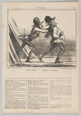 "Honoré Daumier (French, 1808-1879). <em>""Pauvre Giulay!....,""</em> June 27, 1859. Lithograph on newsprint, Sheet: 17 1/16 x 11 3/4 in. (43.3 x 29.8 cm). Brooklyn Museum, Gift of Shelley and David Garfinkel, 1996.225.114 (Photo: Brooklyn Museum, 1996.225.114_PS2.jpg)"