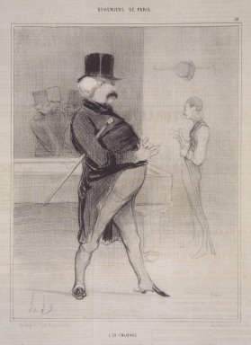 Honoré Daumier (French, 1808-1879). <em>The Ex-Colonel (L'Ex Colonel)</em>, April 17, 1842. Lithograph on newsprint, Sheet: 13 13/16 x 10 1/16 in. (35.1 x 25.6 cm). Brooklyn Museum, Gift of Shelley and David Garfinkel, 1996.225.12 (Photo: Brooklyn Museum, 1996.225.12.jpg)