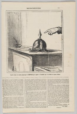 Honoré Daumier (French, 1808-1879). <em>Novelle Forme de Sonnette Proposée par Le Charivari...</em>, June 13, 1872. Lithograph on newsprint, Sheet: 16 13/16 x 11 1/16 in. (42.7 x 28.1 cm). Brooklyn Museum, Gift of Shelley and David Garfinkel, 1996.225.121 (Photo: Brooklyn Museum, 1996.225.121_PS2.jpg)