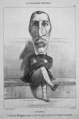 Honoré Daumier (French, 1808-1879). <em>Buvignier</em>, May 10, 1849. Lithograph on newsprint, Sheet: 13 11/16 x 8 11/16 in. (34.8 x 22.1 cm). Brooklyn Museum, Gift of Shelley and David Garfinkel, 1996.225.19 (Photo: Brooklyn Museum, 1996.225.19.jpg)