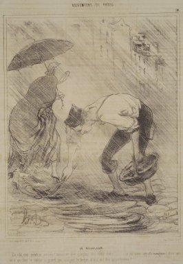Honoré Daumier (French, 1808-1879). <em>The Mud Lark (Le Ravageur)</em>, January 9, 1842. Lithograph on newsprint, Sheet: 13 3/4 x 10 in. (34.9 x 25.4 cm). Brooklyn Museum, Gift of Shelley and David Garfinkel, 1996.225.2 (Photo: Brooklyn Museum, 1996.225.2.jpg)