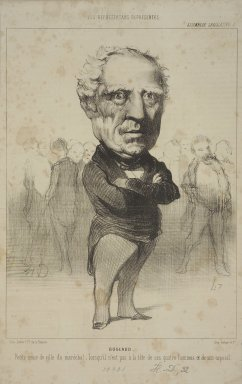 Honoré Daumier (French, 1808-1879). <em>Bugeaud</em>, June 8, 1849. Lithograph on newsprint, Sheet: 12 15/16 x 8 1/16 in. (32.8 x 20.5 cm). Brooklyn Museum, Gift of Shelley and David Garfinkel, 1996.225.27 (Photo: Brooklyn Museum, 1996.225.27.jpg)