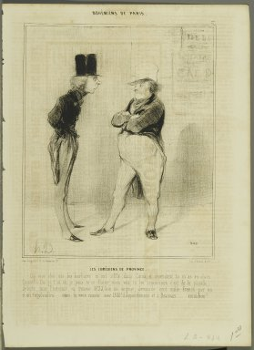 Honoré Daumier (French, 1808-1879). <em>Les Comédiens de Province</em>, March 16, 1842. Lithograph on newsprint, Sheet: 13 3/4 x 10 1/16 in. (35 x 25.5 cm). Brooklyn Museum, Gift of Shelley and David Garfinkel, 1996.225.29 (Photo: Brooklyn Museum, 1996.225.29_PS2.jpg)
