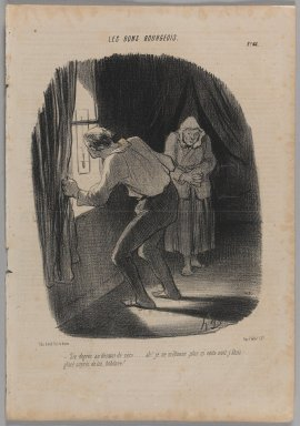Honoré Daumier (French, 1808-1879). <em>Six Degrés au Dessous de Zéro...</em>, February 1, 1847. Lithograph on newsprint, 14 3/8 x 10 in. (36.5 x 25.4 cm). Brooklyn Museum, Gift of Shelley and David Garfinkel, 1996.225.32 (Photo: Brooklyn Museum, 1996.225.32_PS1.jpg)