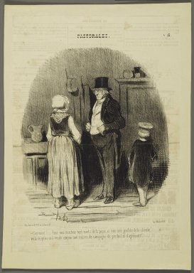 Honoré Daumier (French, 1808-1879). <em>Comment!...Tout Mes Moutons Sont Morts...</em>, July 6, 1845. Lithograph on newsprint, 12 9/16 x 9 1/16 in. (31.9 x 23 cm). Brooklyn Museum, Gift of Shelley and David Garfinkel, 1996.225.36 (Photo: Brooklyn Museum, 1996.225.36_PS2.jpg)