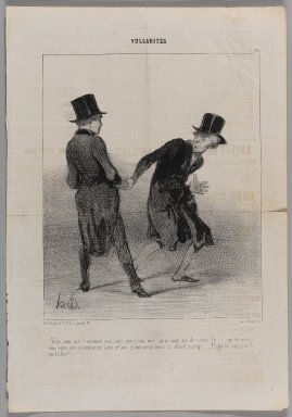 "Honoré Daumier (French, 1808-1879). <em>""Vous, mon ami!  Comment vous savez que je suis veuf...,""</em> May 28, 1842. Lithograph on newsprint, Sheet: 14 5/16 x 9 7/8 in. (36.4 x 25.1 cm). Brooklyn Museum, Gift of Shelley and David Garfinkel, 1996.225.37 (Photo: Brooklyn Museum, 1996.225.37_PS1.jpg)"