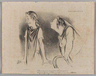 Honoré Daumier (French, 1808-1879). <em>Charmant, Jeune, Trainant Tous les Coeurs après Soi...</em>, February 10, 1839. Lithograph on newsprint, 10 3/4 x 13 11/16 in. (27.3 x 34.8 cm). Brooklyn Museum, Gift of Shelley and David Garfinkel, 1996.225.50 (Photo: Brooklyn Museum, 1996.225.50_PS1.jpg)