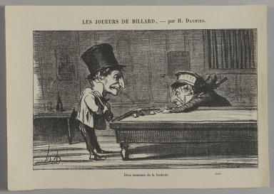 Honoré Daumier (French, 1808-1879). <em>Deux Amateurs de la Banlieue</em>. Gillotage on newsprint, Sheet: 7 7/8 x 11 1/4 in. (20 x 28.6 cm). Brooklyn Museum, Gift of Shelley and David Garfinkel, 1996.225.59 (Photo: Brooklyn Museum, 1996.225.59_PS1.jpg)