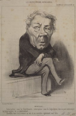 Honoré Daumier (French, 1808-1879). <em>Deville</em>, August 18, 1849. Lithograph on newsprint, Sheet: 12 5/8 x 8 9/16 in. (32 x 21.8 cm). Brooklyn Museum, Gift of Shelley and David Garfinkel, 1996.225.6 (Photo: Brooklyn Museum, 1996.225.6.jpg)