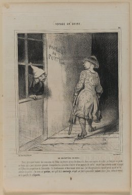 Honoré Daumier (French, 1808-1879). <em>Un Coléoptère Chinois</em>, January 26, 1845. Lithograph on newsprint, Sheet: 14 1/4 x 9 11/16 in. (36.2 x 24.6 cm). Brooklyn Museum, Gift of Shelley and David Garfinkel, 1996.225.72 (Photo: Brooklyn Museum, 1996.225.72_PS1.jpg)