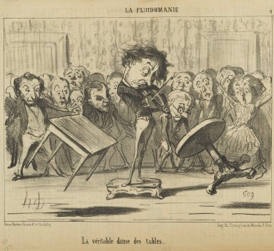 Honoré Daumier (French, 1808-1879). <em>La Véritable Danse des Tables</em>, June 18, 1853. Lithograph on newsprint, Sheet: 9 13/16 x 14 1/4 in. (24.9 x 36.2 cm). Brooklyn Museum, Gift of Shelley and David Garfinkel, 1996.225.80 (Photo: Brooklyn Museum, 1996.225.80_PS2.jpg)