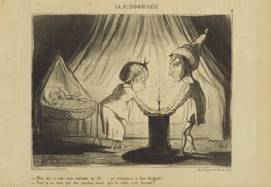Honoré Daumier (French, 1808-1879). <em>Mon Ami, Si Nous Nous Mettions au Lit...</em>, June 6, 1853. Lithograph on newsprint, Sheet: 9 5/8 x 14 1/4 in. (24.4 x 36.2 cm). Brooklyn Museum, Gift of Shelley and David Garfinkel, 1996.225.81 (Photo: Brooklyn Museum, 1996.225.81_PS2.jpg)
