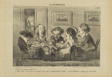 Honoré Daumier (French, 1808-1879). <em>Eh! B(i)en M'sieu, Ça Tourne T'y?...</em>, May 16-17, 1853. Lithograph on newsprint, Sheet: 9 9/16 x 14 in. (24.3 x 35.6 cm). Brooklyn Museum, Gift of Shelley and David Garfinkel, 1996.225.82 (Photo: Brooklyn Museum, 1996.225.82_PS2.jpg)