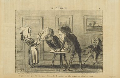 Honoré Daumier (French, 1808-1879). <em>Ce Qui Nous Prouve Qu'on Doit Bien se Garder d'Entreprendre...</em>, May 25, 1853. Lithograph on newsprint, Sheet: 9 3/8 x 14 1/8 in. (23.8 x 35.9 cm). Brooklyn Museum, Gift of Shelley and David Garfinkel, 1996.225.83 (Photo: Brooklyn Museum, 1996.225.83_PS2.jpg)