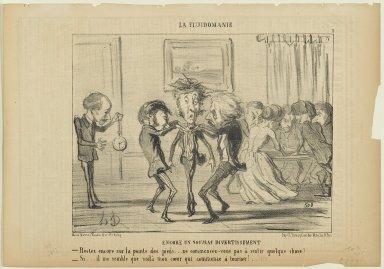 Honoré Daumier (French, 1808-1879). <em>Encore un Nouveau Divertissement</em>, June 9, 1853. Lithograph on newsprint, Sheet: 10 x 14 5/16 in. (25.4 x 36.4 cm). Brooklyn Museum, Gift of Shelley and David Garfinkel, 1996.225.89 (Photo: Brooklyn Museum, 1996.225.89_PS2.jpg)
