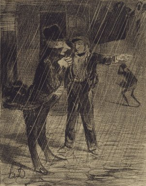 Honoré Daumier (French, 1808-1879). <em>Comment à Chaillot!...</em>, December 24, 1839. Lithograph on newsprint mounted on thick paper, Sheet: 12 3/16 x 8 9/16 in. (31 x 21.7 cm). Brooklyn Museum, Gift of Shelley and David Garfinkel, 1996.225.95 (Photo: Brooklyn Museum, 1996.225.95_PS2.jpg)