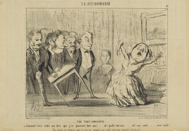 Honoré Daumier (French, 1808-1879). <em>Une Table Indiscrète</em>, June 15, 1853. Lithograph on newsprint, Sheet: 9 9/16 x 14 1/16 in. (24.3 x 35.7 cm). Brooklyn Museum, Gift of Shelley and David Garfinkel, 1996.225.97 (Photo: Brooklyn Museum, 1996.225.97_PS2.jpg)