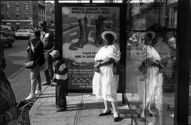 """Martin Dixon (American, born 1965). <em>""""Walk on Air"""" Brooklyn N.Y.</em>, 1994. Gelatin silver photograph, image: 7 1/8 x 10 1/2 in. (18.2 x 26.7 cm). Brooklyn Museum, Gift of the artist, 1996.238.2. © artist or artist's estate (Photo: Brooklyn Museum, 1996.238.2_bw.jpg)"""