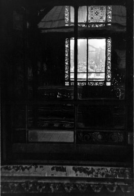 Vivian Cherry (American, 1920-2019). <em>3rd Avenue EL  (Looking Through  Window)</em>, 1955. Gelatin silver photograph (vintage), 9 1/2 x 13 1/2 in. (24.2 x 34.3 cm). Brooklyn Museum, Gift of Steven Schmidt, 1996.241.20. © artist or artist's estate (Photo: Brooklyn Museum, 1996.241.20_bw.jpg)