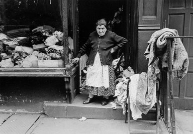 Vivian Cherry (American, 1920-2019). <em>Dry Goods (Lower East Side N.Y.C)</em>, 1950s. Gelatin silver photograph, 13 x 9 in.  (33.0 x 22.9 cm). Brooklyn Museum, Gift of Steven Schmidt, 1996.241.5. © artist or artist's estate (Photo: Brooklyn Museum, 1996.241.5_bw.jpg)