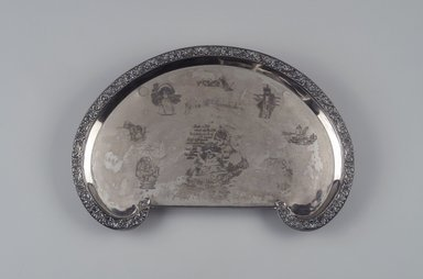 Reed & Barton (American, 1840-present). <em>Tray</em>, ca. 1905. Silverplate, 1 7/8 x 17 1/8 x 11 1/2 in. (4.8 x 43.5 x 29.2 cm). Brooklyn Museum, Gift of Mrs. John H. Livingston, 1996.37.7. Creative Commons-BY (Photo: Brooklyn Museum, 1996.37.7.jpg)