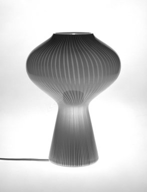 Massimo Vignelli (American, born Italy, 1931-2014). <em>Fungo Table Lamp</em>, Designed 1955. Glass, height: 13 1/2 in. (43.3 cm). Brooklyn Museum, Gift of Lella and Massimo Vignelli, 1996.39. Creative Commons-BY (Photo: Brooklyn Museum, 1996.39_bw.jpg)